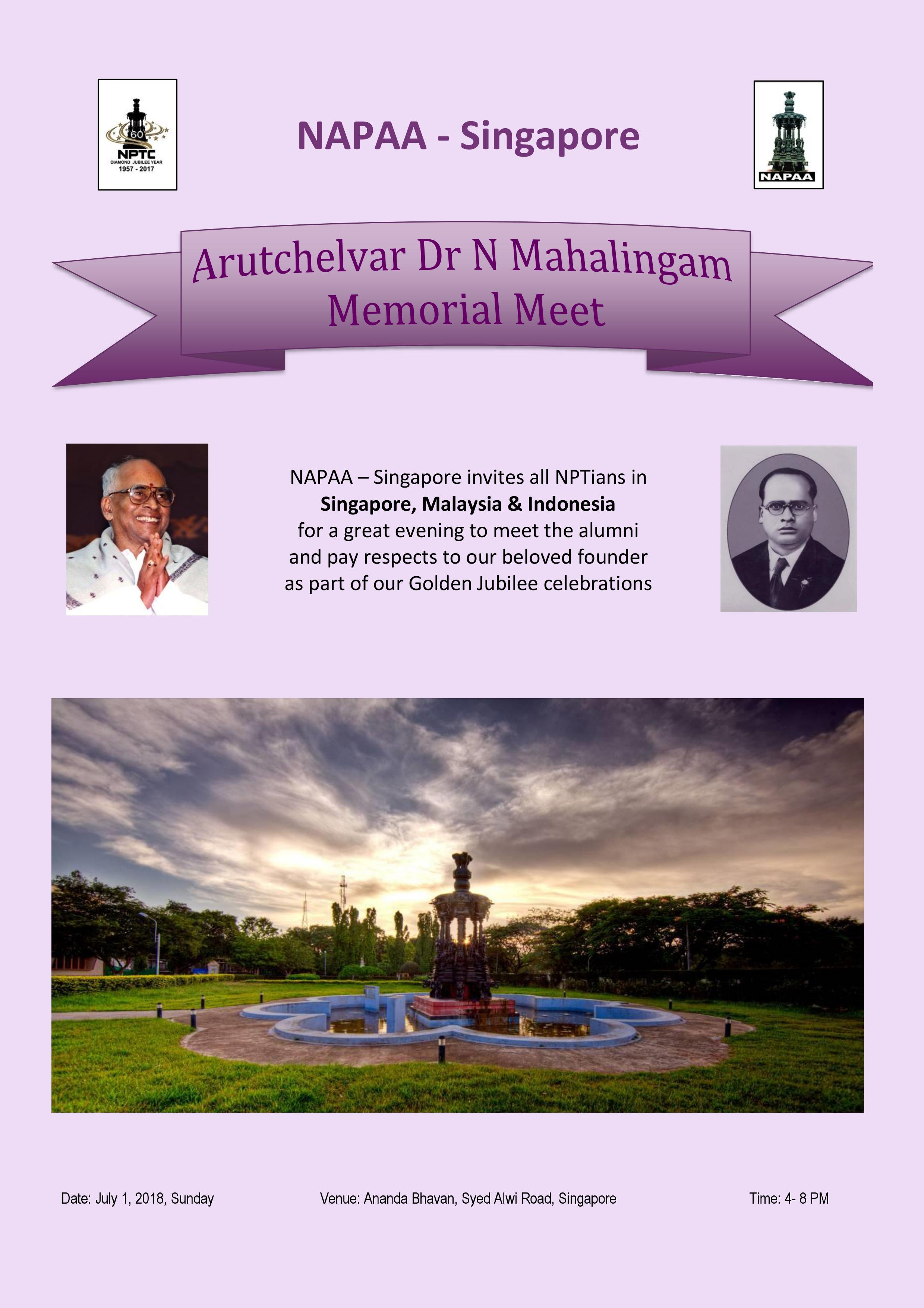 Arutchelvar Memorial Lecture by South East Asia Chapter