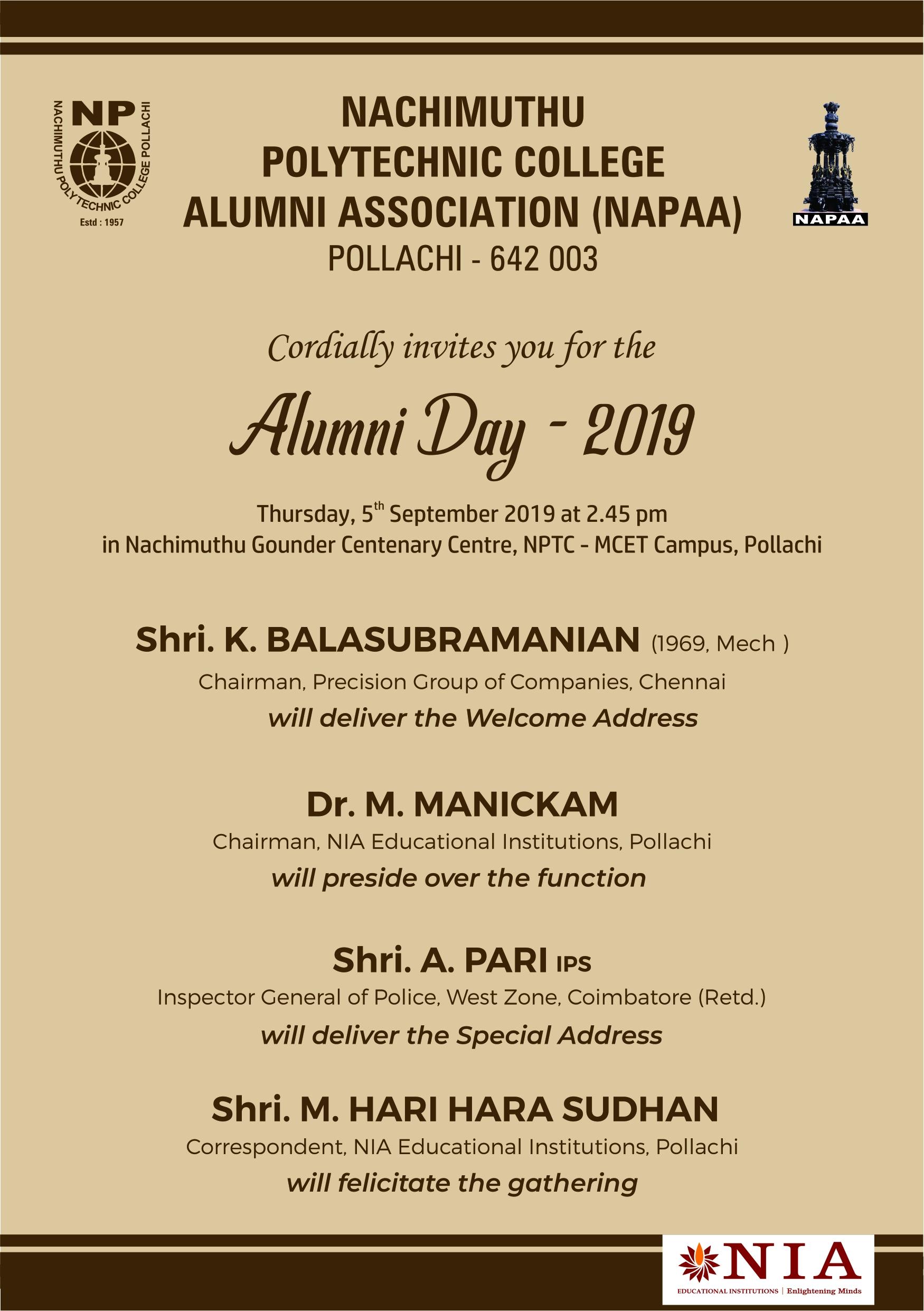 Alumni Day 2019